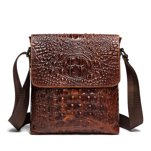 Luxury Alligator Men's Business Leather Bag