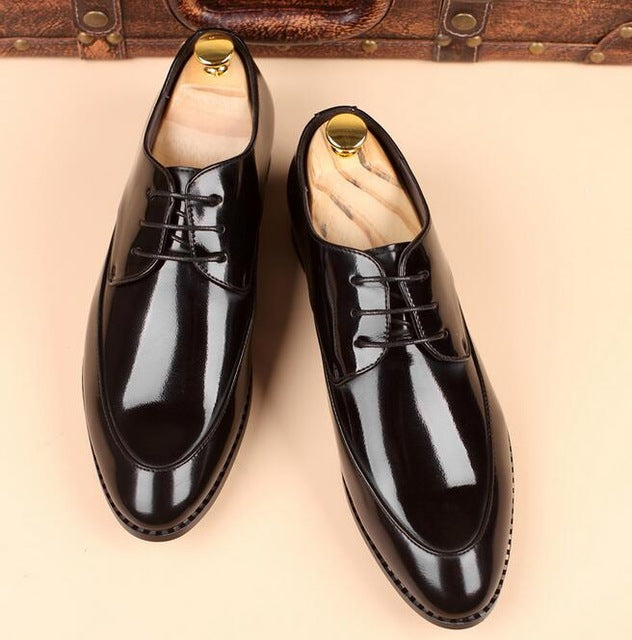 Big Size Patent Leather Men's Oxfords Dress Shoes
