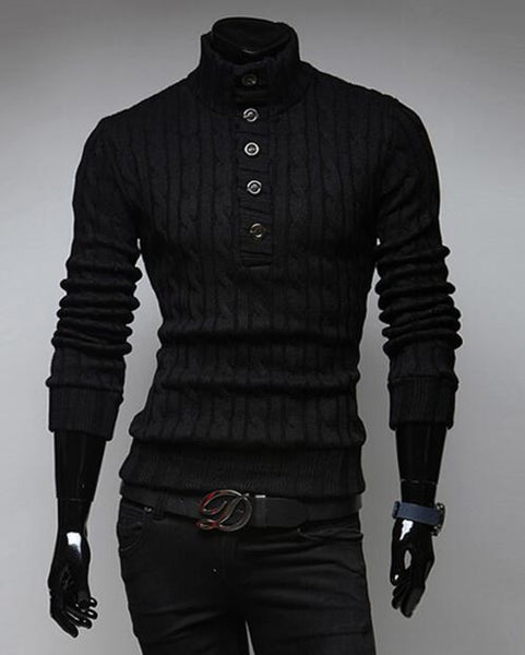 2018 Classic Men's High Collar Casual Sweater