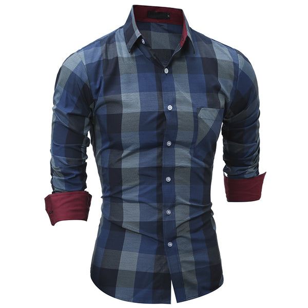 Men's Plaid Slim Fit
