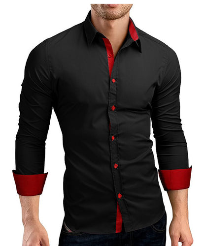 Men's Long Sleeve Slim Fit Dress Shirts