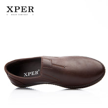 Men's Fashion Breathable Round Toe Brown Loafers