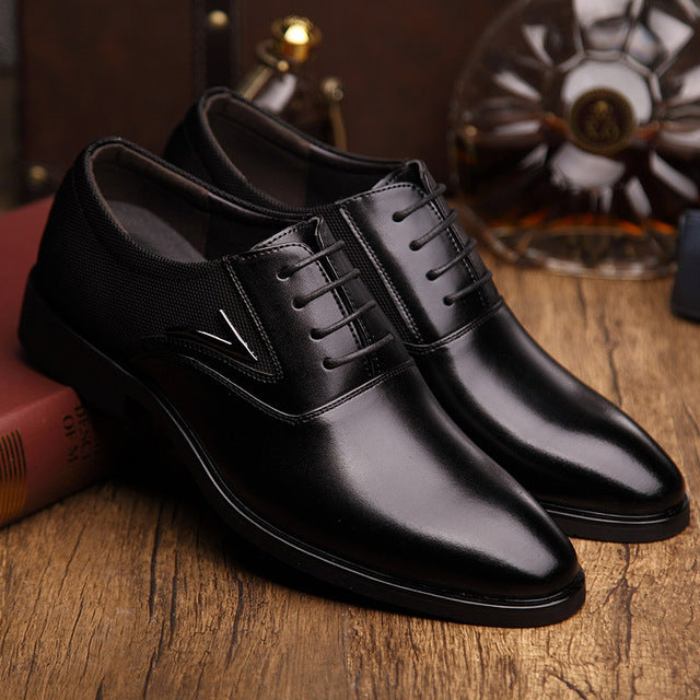 Big Size Men's High Quality Leather Business Shoes