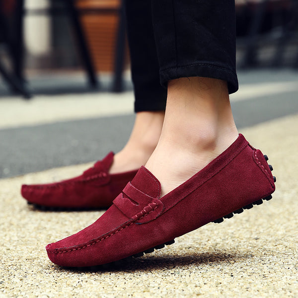 Fashion Men's Suede Loafers Breathable Driving Shoes