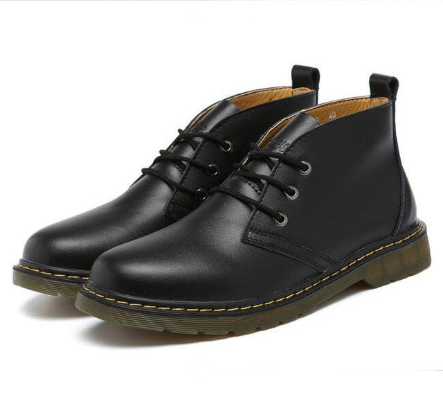 Fashion Men Lace-up Ankle Boots