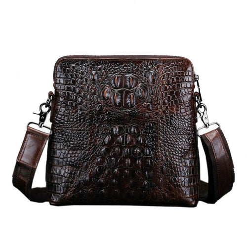 Men's Crocodile Grain Patterns Vintage Bags