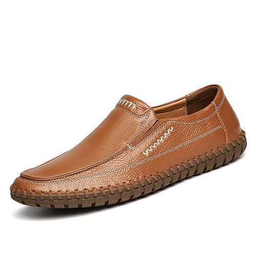 Genuine Leather Loafers Men's Casual Driving Shoes
