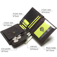 2018 New Men Wallet 100% Genuine Leather