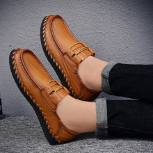 Big Size Men's Genuine Leather Loafers Moccasins Shoes