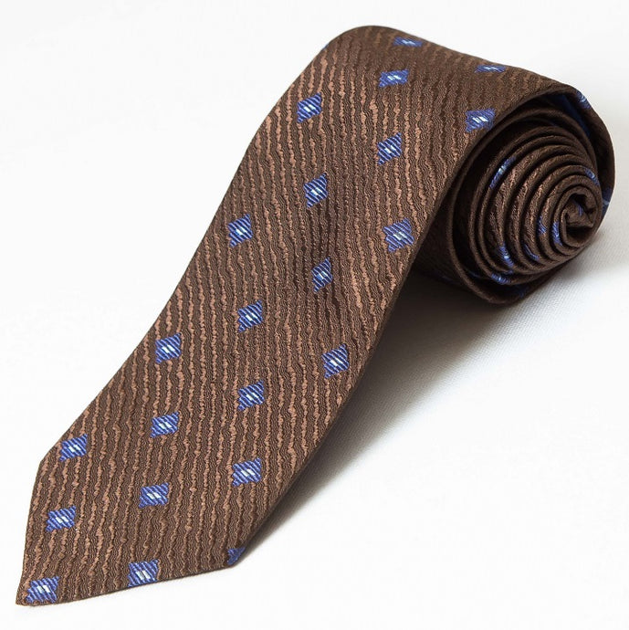 PRIMEtime Men's Brown Silk Necktie