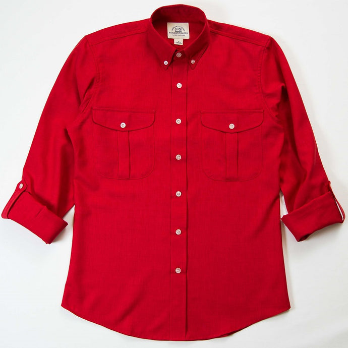 Primestitch Clothing & Apparel, Men's Red Vented Fishing & Outdoor Shirt