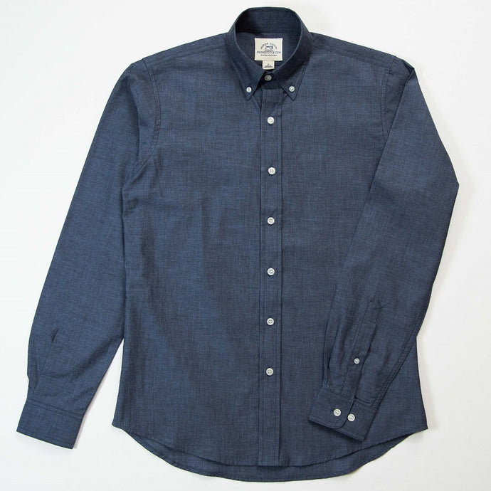 Primestitch Clothing & Apparel, Navy Blue Men's Button Down Shirt - Front