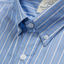 Primestitch Clothing & Apparel, Blue Stripe Men's Button Down Shirt - Collar