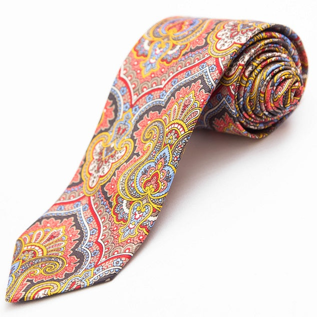 PRIMEtime Moroccan Dream Men's Colorful Silk Necktie