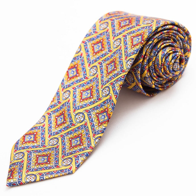 PRIMEtime 'It's Puzzling' Men's Colorful Silk Necktie