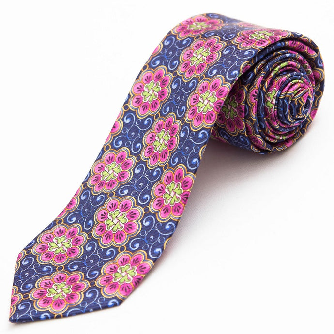 PRIMEtime Flower Power Men's Silk Necktie