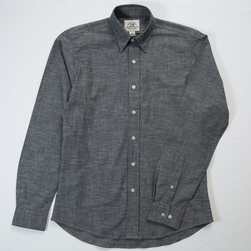Primestitch Clothing & Apparel, Navy Chambray Men's Button Down Shirt