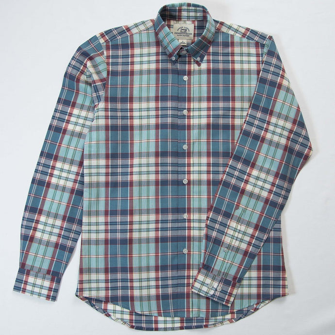 Primestitch Clothing & Apparel, Jewel Madras Men's Button Down Shirt - Front