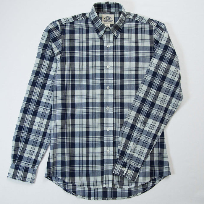 Primestitch Clothing & Apparel, Glacier Madras Men's Button Down Shirt - Front