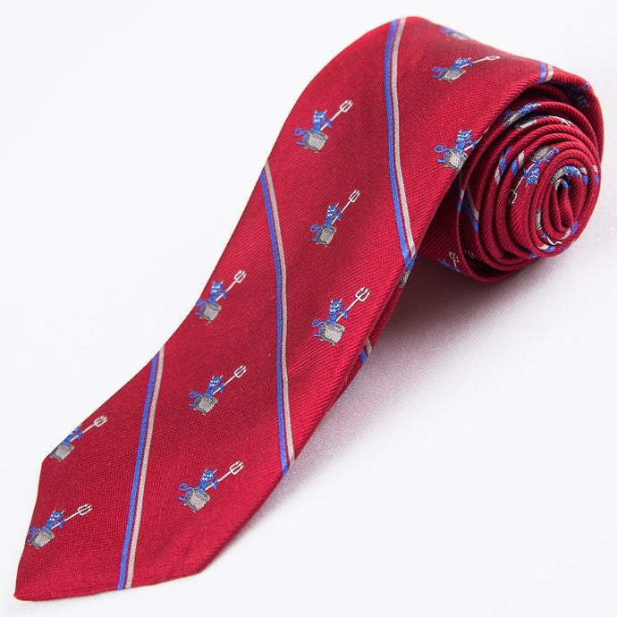 PRIMEtime 'Devil Inside' Men's Red Themed Silk Necktie