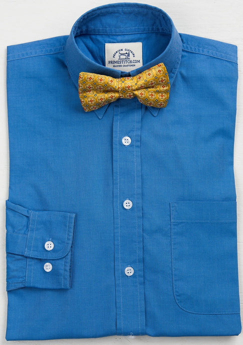 Primestitch Clothing & Apparel, French Blue Men's Button Down Shirt - Front
