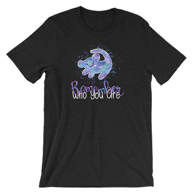 Lion King: Remember Who You Are Script Unisex Tee