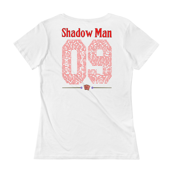 Shadow Man Jersey Women's Scoop Neck Tee