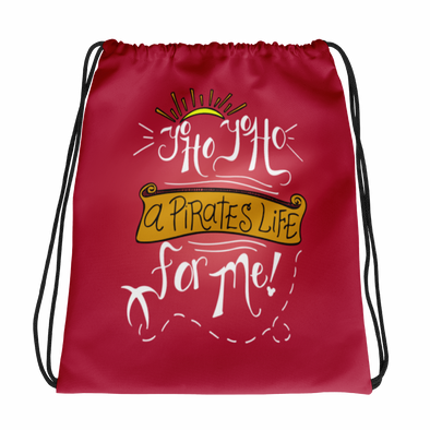 A Pirates Life Drawstring Bag