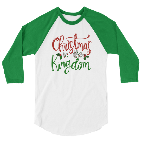 Christmas In The Kingdom Unisex Baseball Tee