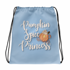Pumpkin Spice Princess Drawstring Bag