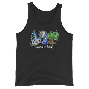 Watercolor: Wanderlust Unisex Tank