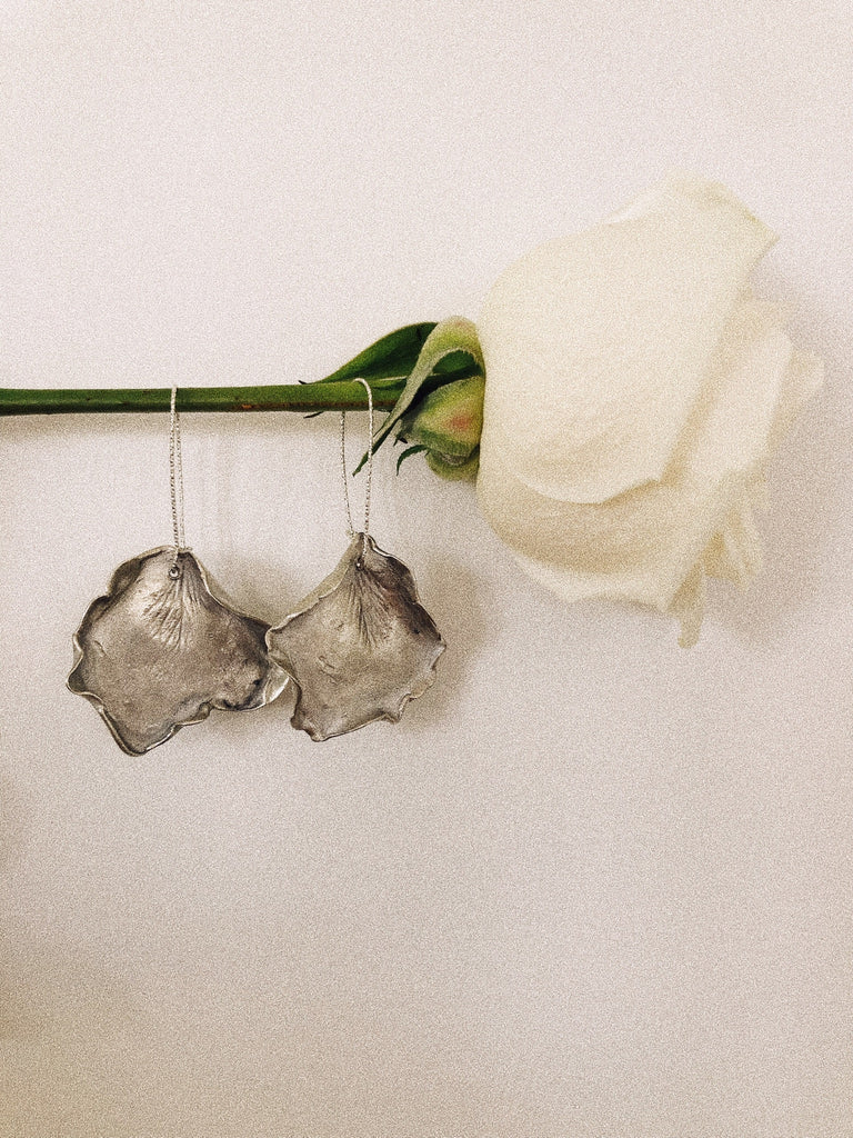 Hand-sculpted Sterling Silver Rose Petal