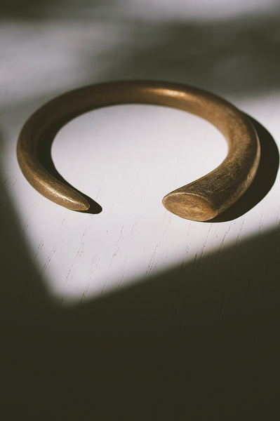 Hand-Sculpted Bronze Torc Bangle