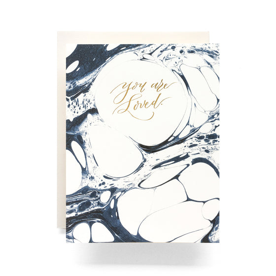Marble Loved Greeting Card