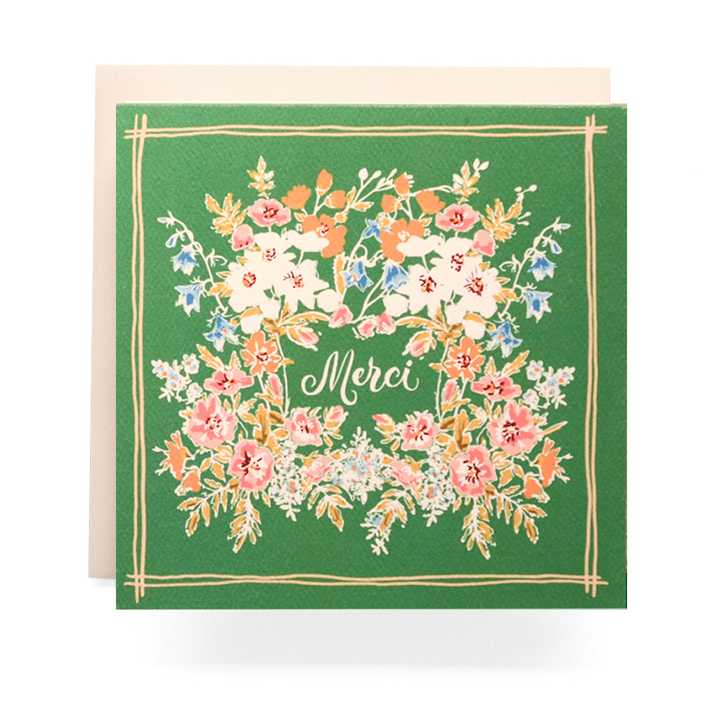 Handkerchief Merci Greeting Card