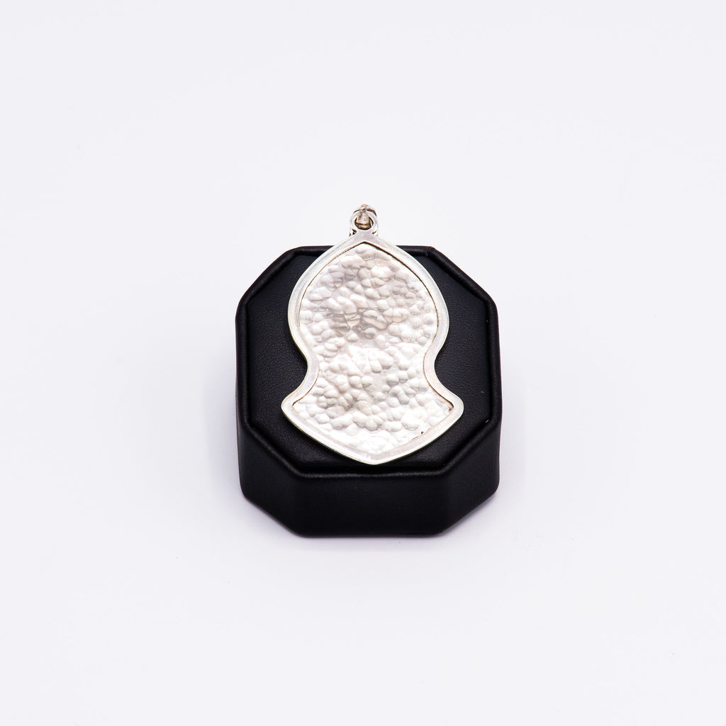 Pendant - Large Silver Hammered