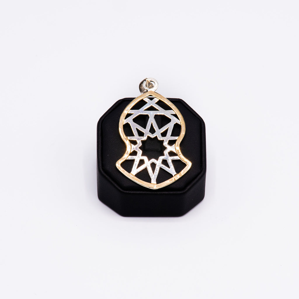 Pendant - Large Two-Tone Geometric