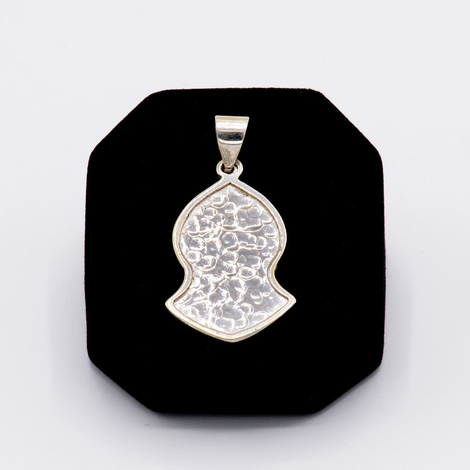 Silver Hammered Pendant  - Small