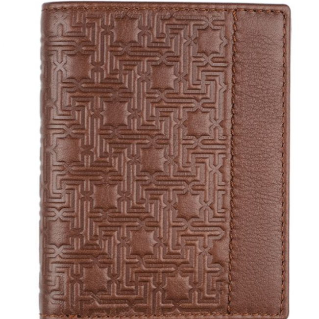Men's Zellige Leather Wallet - brown