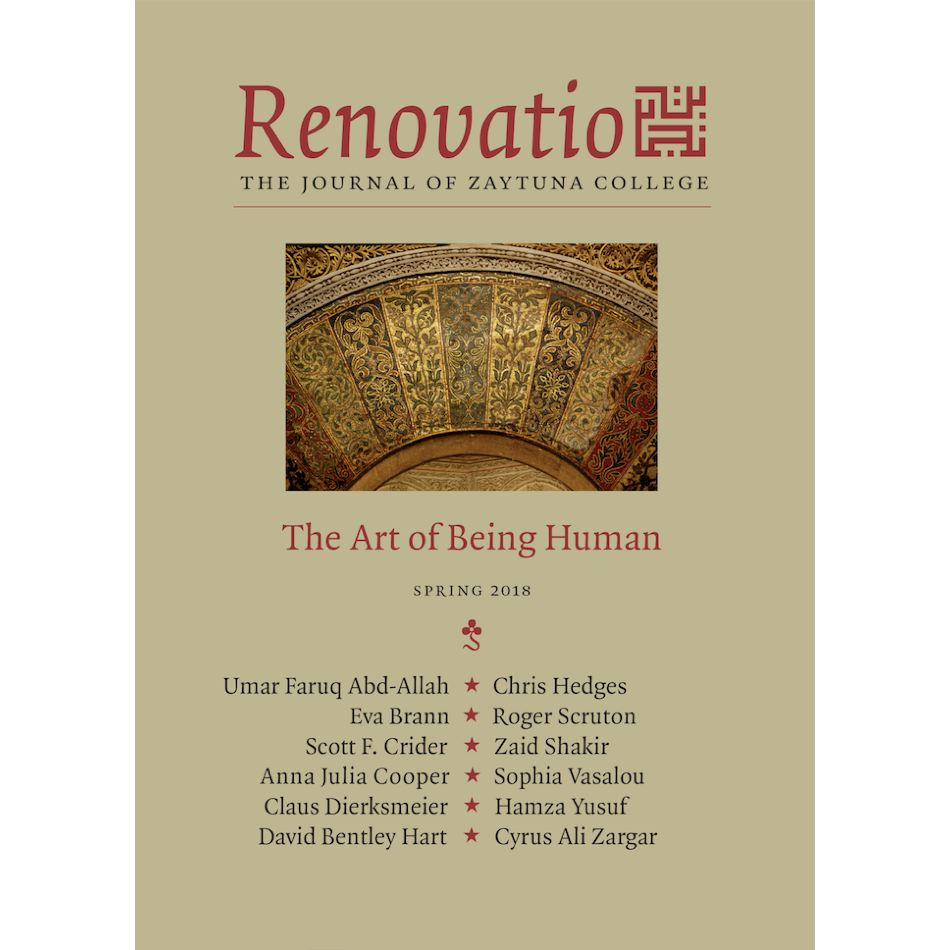 Renovatio: The Journal of Zaytuna College - Spring 2018  Vol.2, No.1