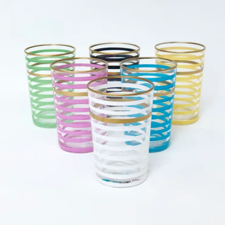 Striped Tea Glass Set
