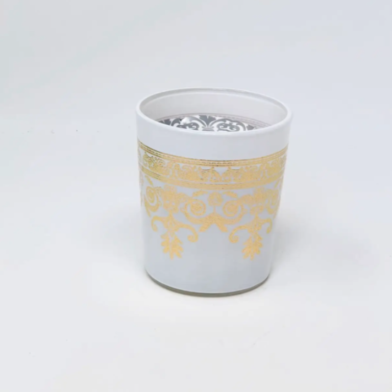Translucent Moroccan Candle - White