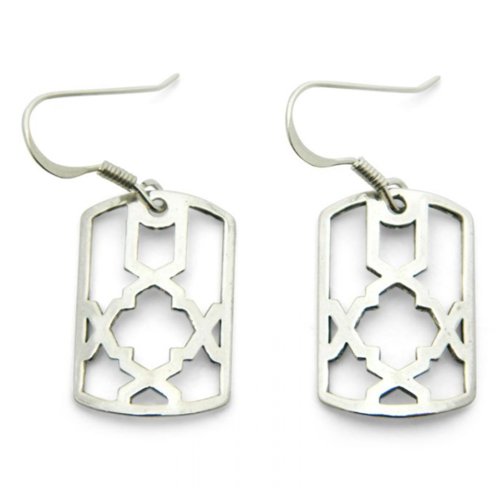 Silver Alhambra Earrings