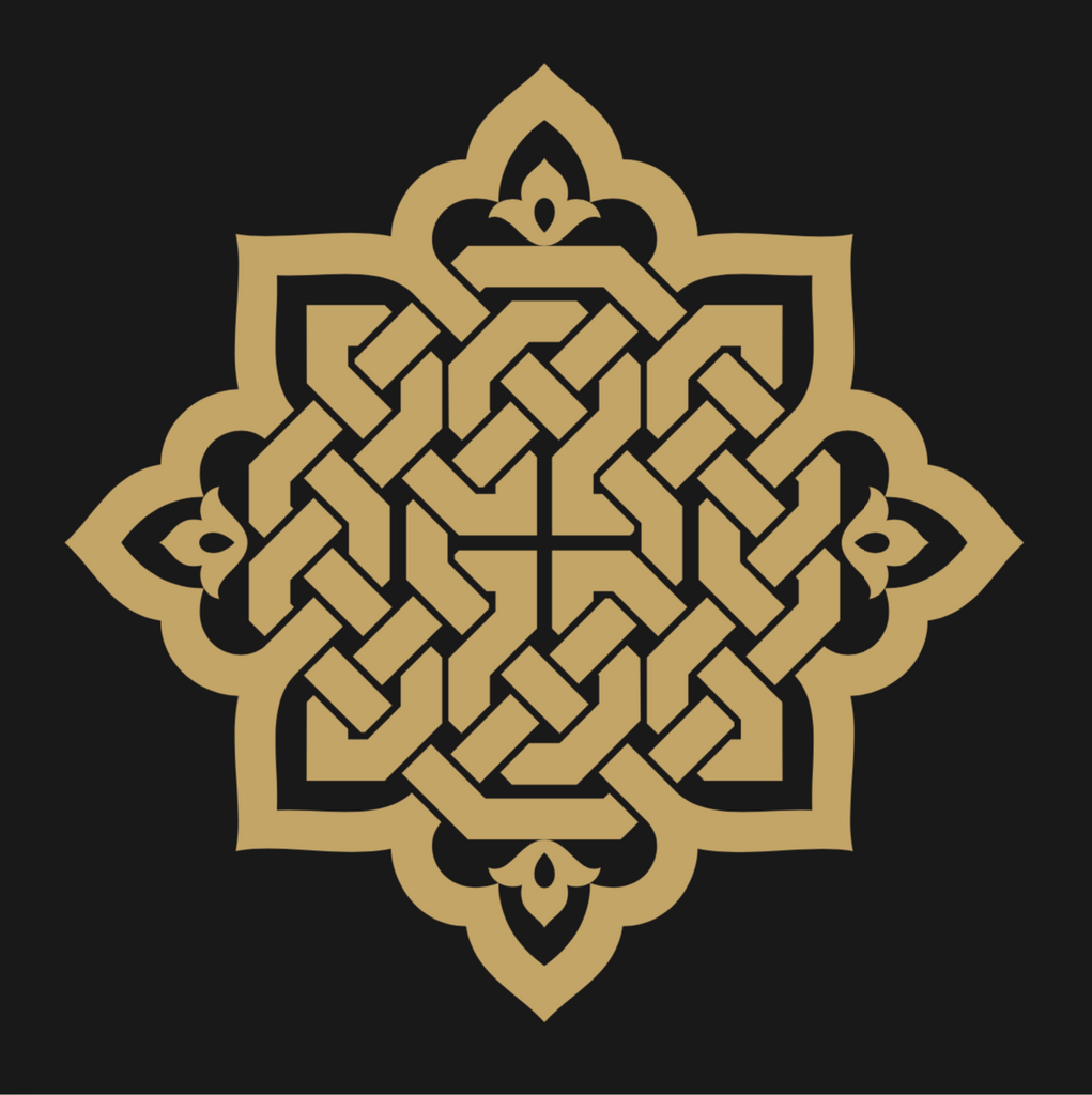 Sticker - Black & Gold Geometric