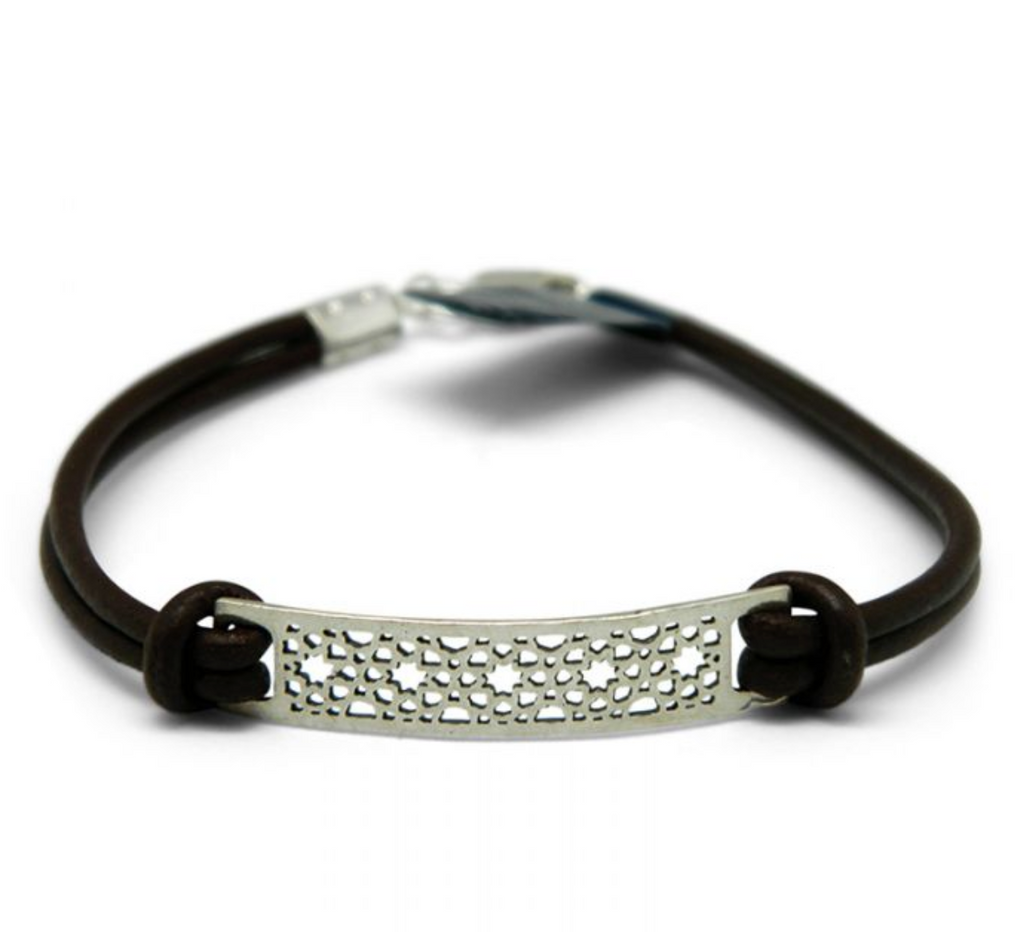 Silver & Leather Estella Bracelet