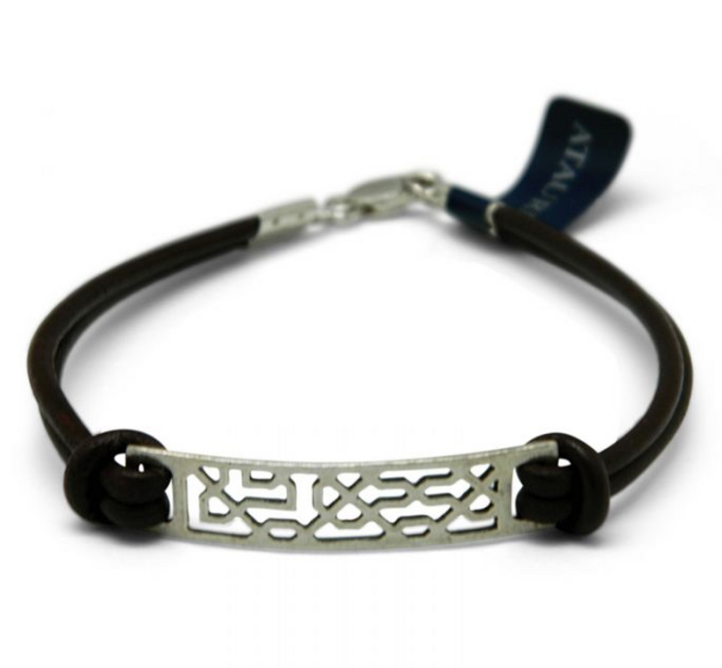 Silver & Leather Celosia Bracelet