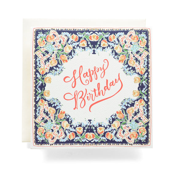Handkerchief Birthday Greeting Card