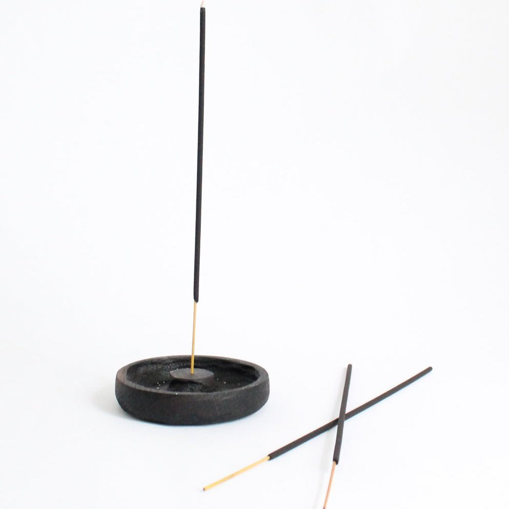 Wooden Incense Holder - Round