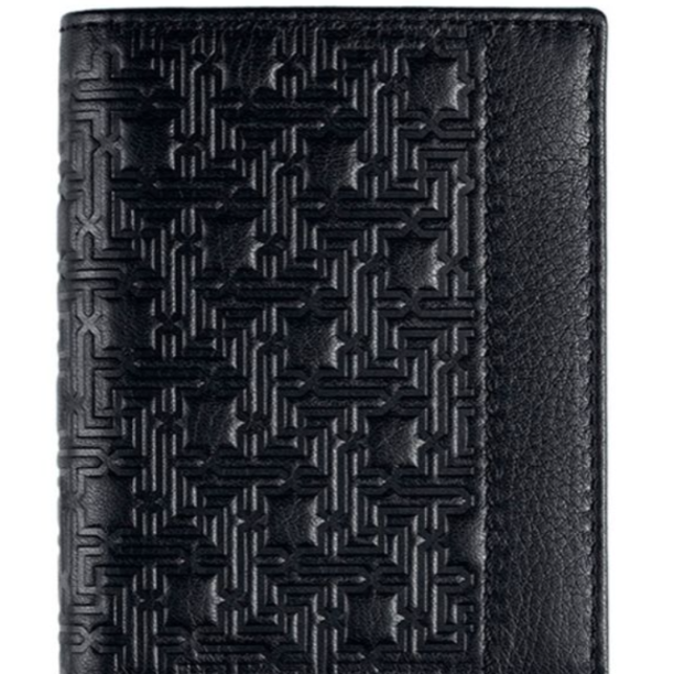 Men's Zellige Leather Wallet - black