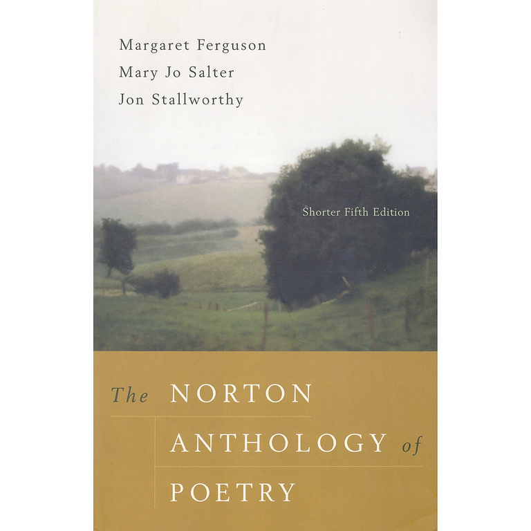 The norton anthology of poetry 5th edition paperback fifth ed.